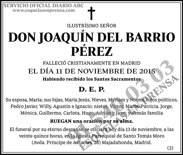 Joaquín del Barrio Pérez
